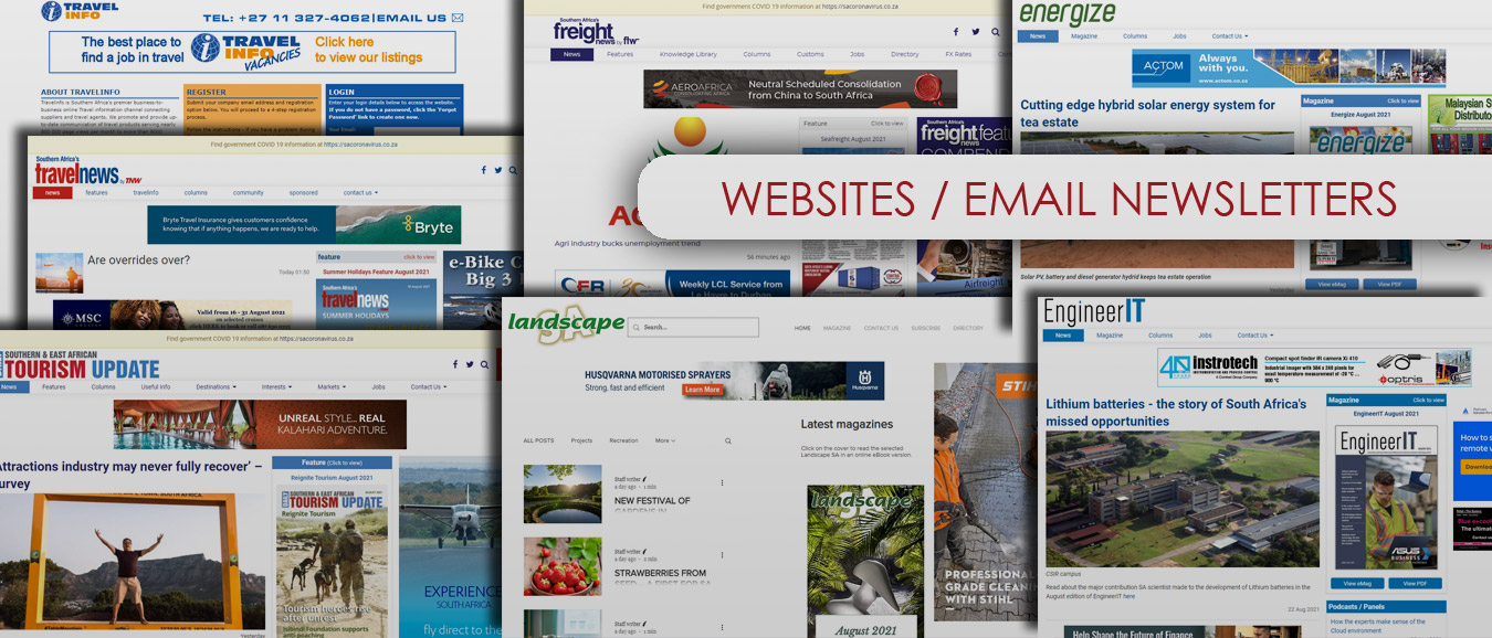 Websites And Email Newsletters - Advertising Options